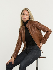 Daisy Brown Leather Jacket