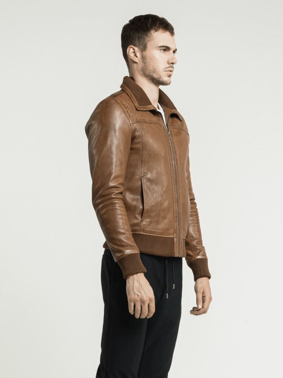 Sculpt Australia mens leather jacket Asher Brown Leather Jacket
