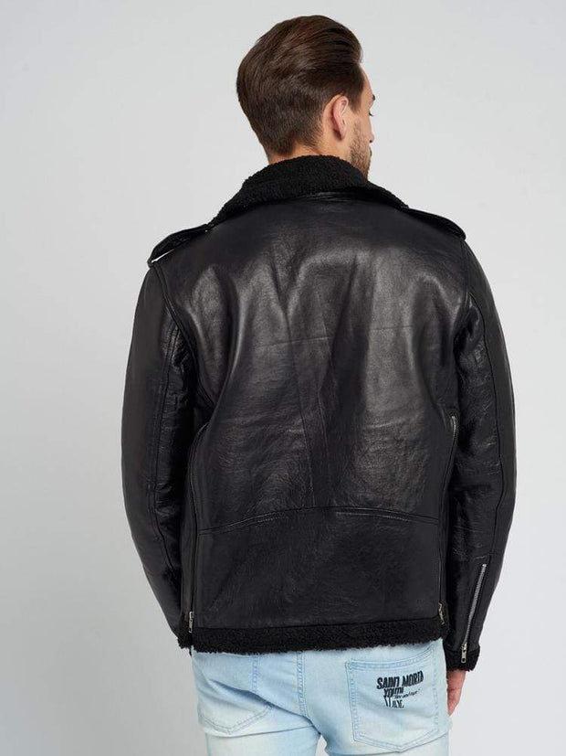 Sculpt Australia mens leather jacket Ashton Shearling Leather Jacket