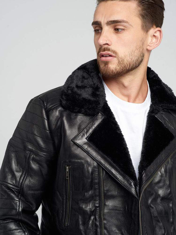 Sculpt Australia mens leather jacket Austin Shearling Leather Jacket