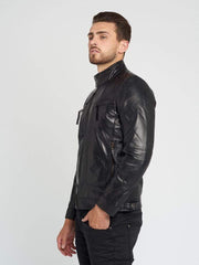 Sculpt Australia mens leather jacket Casey Black Leather Jacket