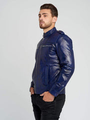 Sculpt Australia mens leather jacket Chris Blue Leather Jacket