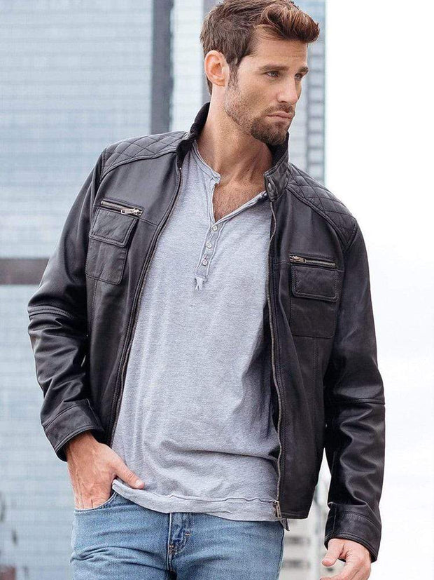 Sculpt Australia mens leather jacket Classic Casual Leather Jacket