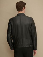 Sculpt Australia mens leather jacket Classic Tab Collar Leather Jacket