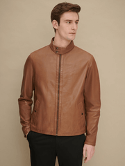 Sculpt Australia mens leather jacket Cognac Smooth Leather Jacket