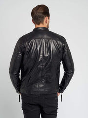 Sculpt Australia mens leather jacket Dean Black Leather Jacket