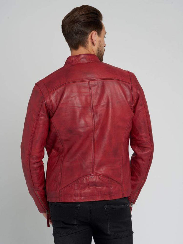 Sculpt Australia mens leather jacket Dean Red Leather Jacket