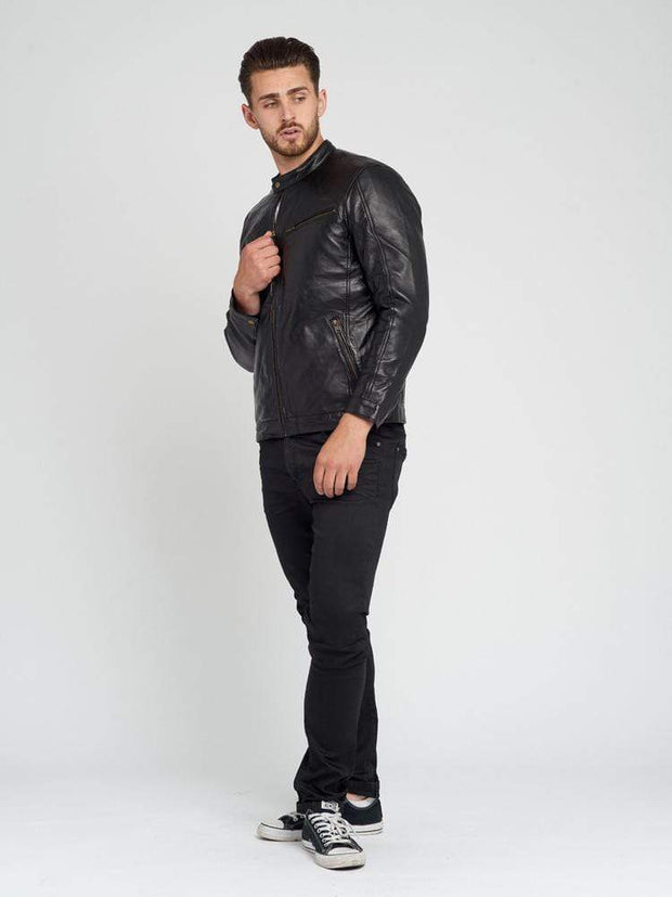 Sculpt Australia mens leather jacket Duncan Black Leather Jacket