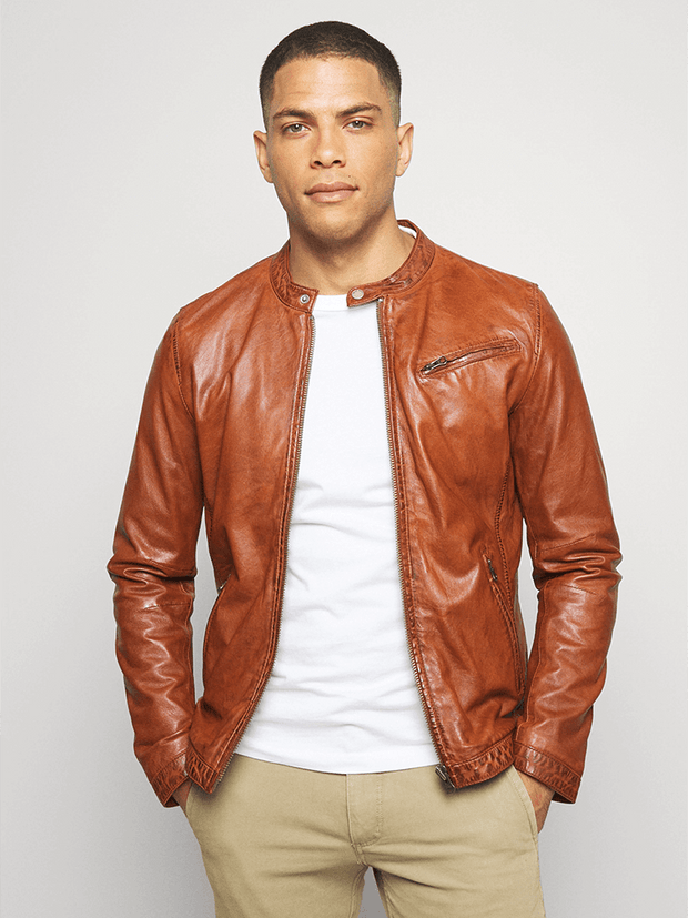 Sculpt Australia mens leather jacket Duncan Brown Leather Jacket
