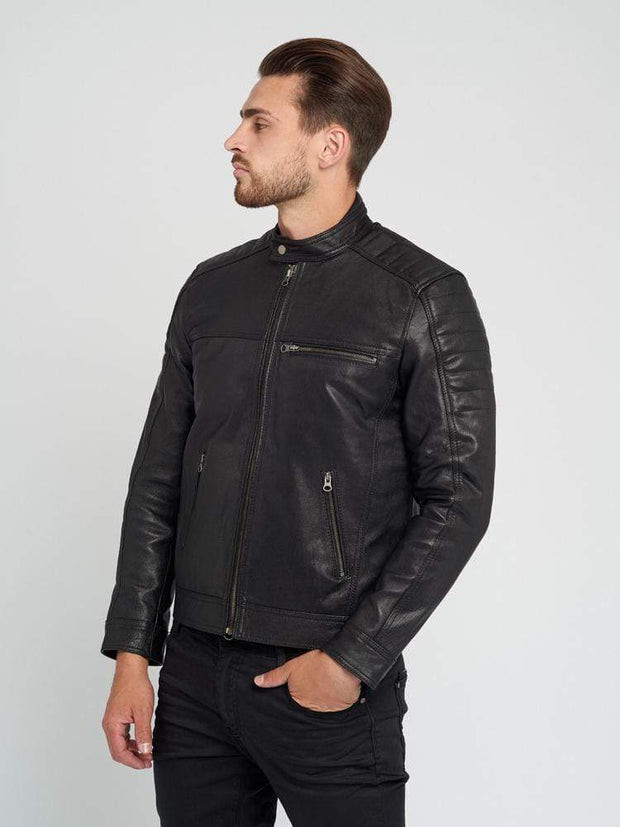 Sculpt Australia mens leather jacket Ethan Black Leather Jacket