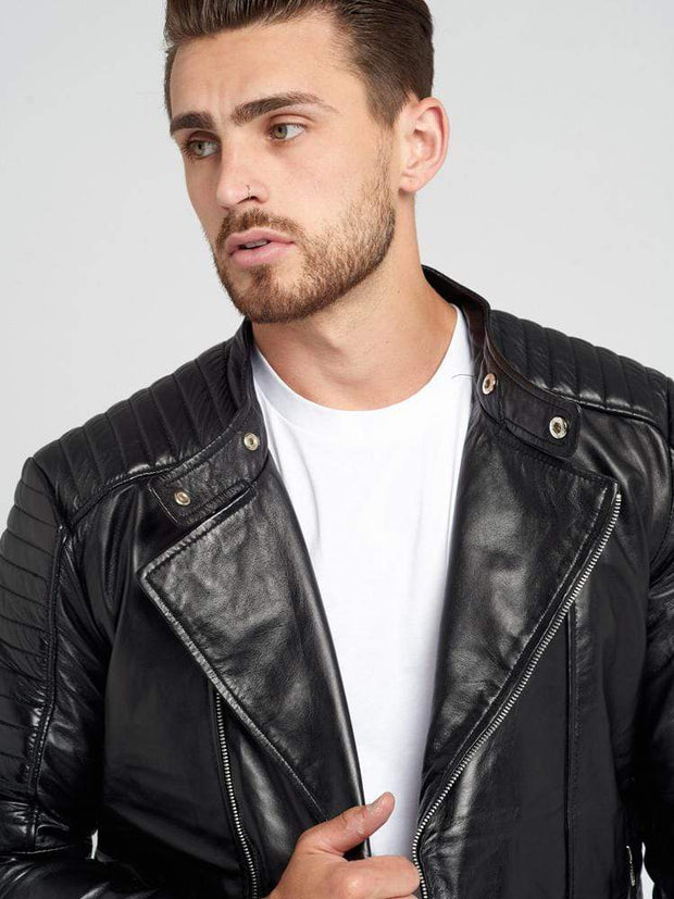 Sculpt Australia mens leather jacket Henry Black Leather Jacket