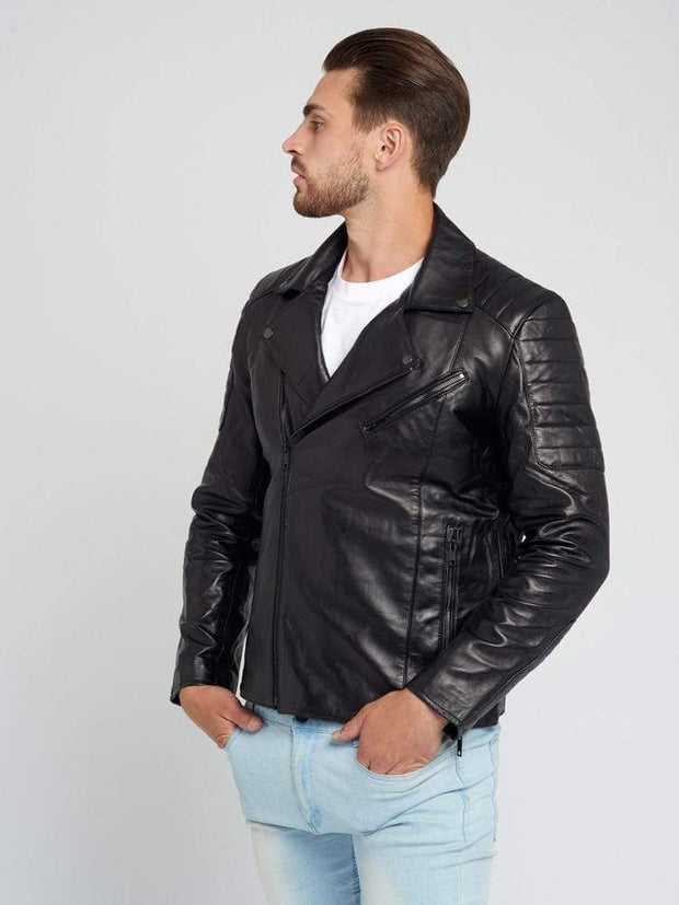 Sculpt Australia mens leather jacket Jayden Black Leather Jacket