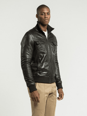 Sculpt Australia mens leather jacket Kenzo Black Leather Jacket