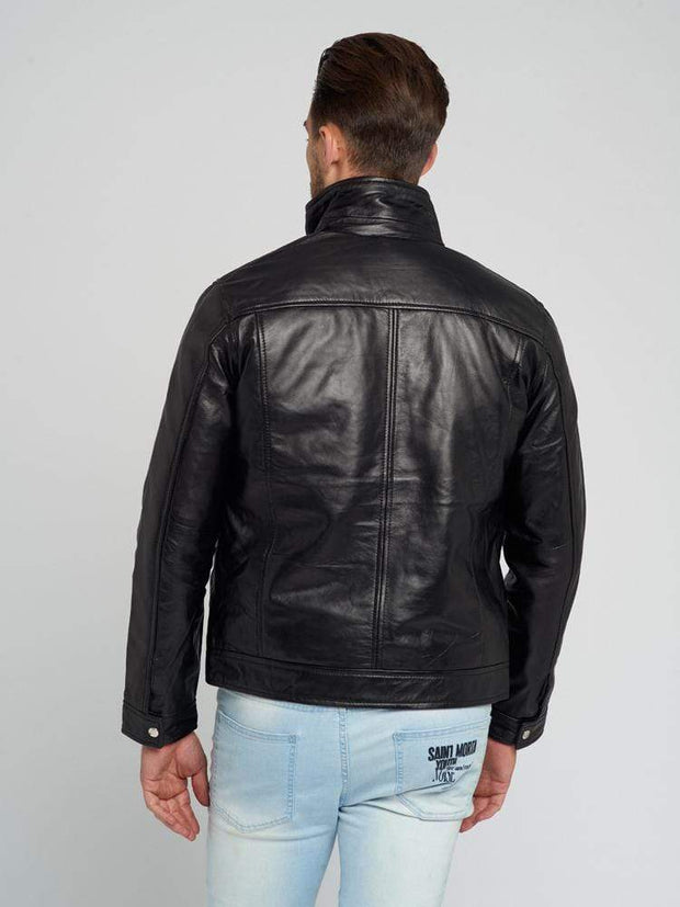 Sculpt Australia mens leather jacket Kevin Black Leather Jacket