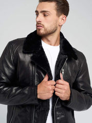 Sculpt Australia mens leather jacket Kinlay Shearling Leather Jacket