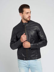 Sculpt Australia mens leather jacket Kurt - Black Leather Jacket