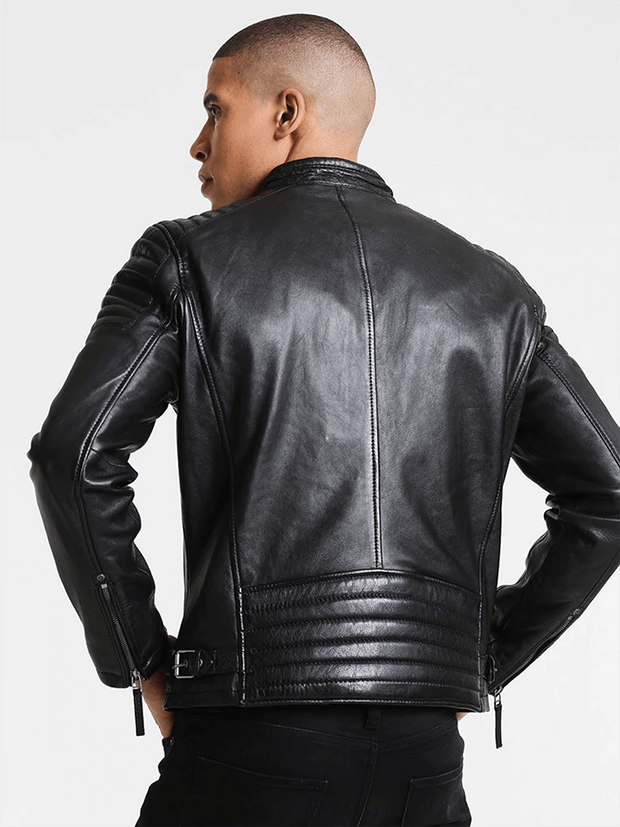 Sculpt Australia mens leather jacket Logan Black Leather Jacket