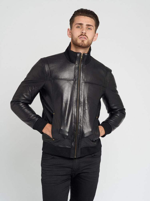 Sculpt Australia mens leather jacket Lucas Black Leather Jacket