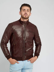 Sculpt Australia mens leather jacket Lucas Dark Brown Leather Jacket