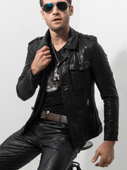 Sculpt Australia mens leather jacket Luxury Motorcycle Leather Jacket
