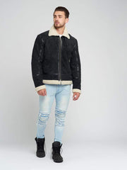 Sculpt Australia mens leather jacket Mitchell Suede Shearling Leather Jacket