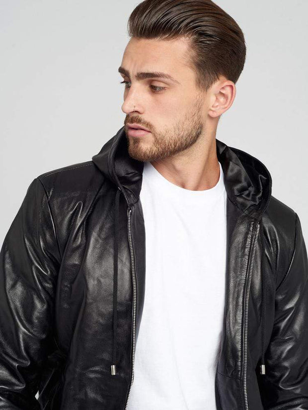 Sculpt Australia mens leather jacket Nappa Leather Jacket With Hood
