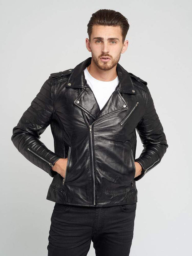 Sculpt Australia mens leather jacket Nicholas Black Leather Jacket