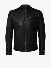 Sculpt Australia mens leather jacket Owen Black Leather Jacket