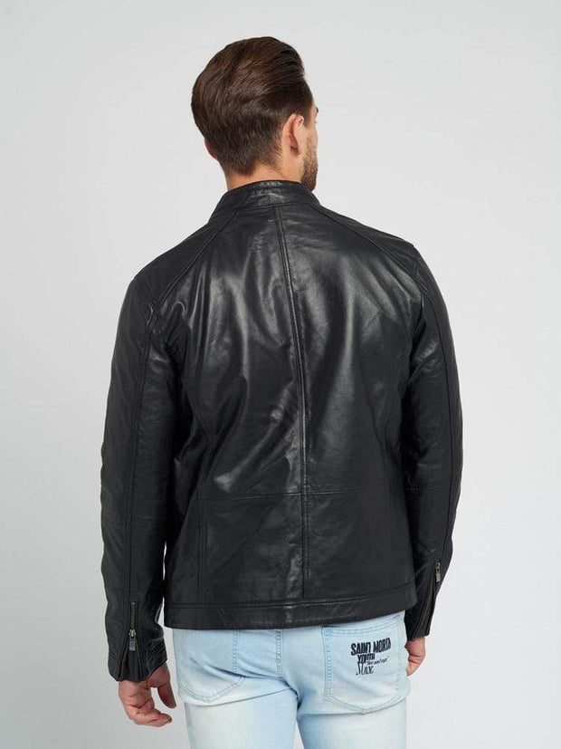 Sculpt Australia mens leather jacket Route - Black Leather Jacket for Men