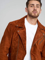 Sculpt Australia mens leather jacket Ryder Brown Suede Leather Jacket