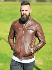 Sculpt Australia mens leather jacket Sculpt's Leather Motorcycle Jacket