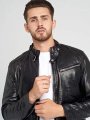 Sculpt Australia mens leather jacket Sculpt's Premium Biker Leather Jacket