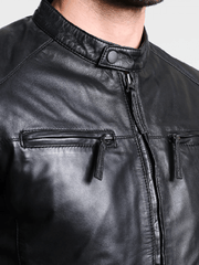 Sculpt Australia mens leather jacket Standout Black Leather Jacket