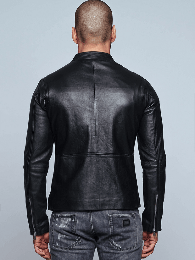 Sculpt Australia mens leather jacket Stephen Black Leather Jacket