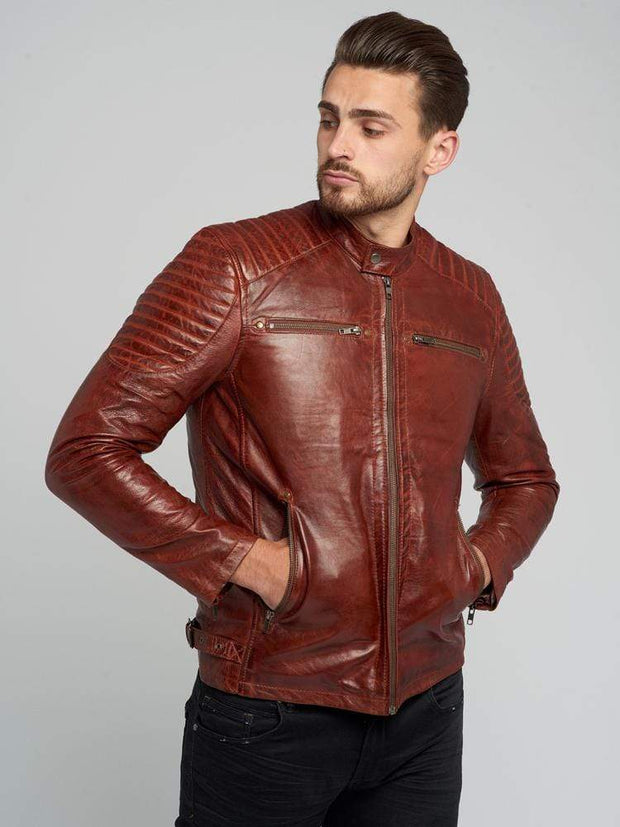 Sculpt Australia mens leather jacket Stylish Brown Leather Jacket