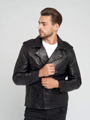 Sculpt Australia mens leather jacket Vintage Black Hardware Leather Jacket