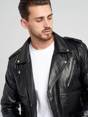 Sculpt Australia mens leather jacket Vintage Leather Biker Jacket