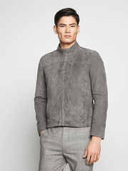 Sculpt Australia mens leather jacket Will Grey Suede Leather Jacket