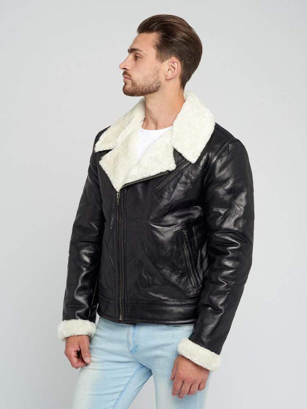 Sculpt Australia mens leather jacket Zane Shearling Leather Jacket