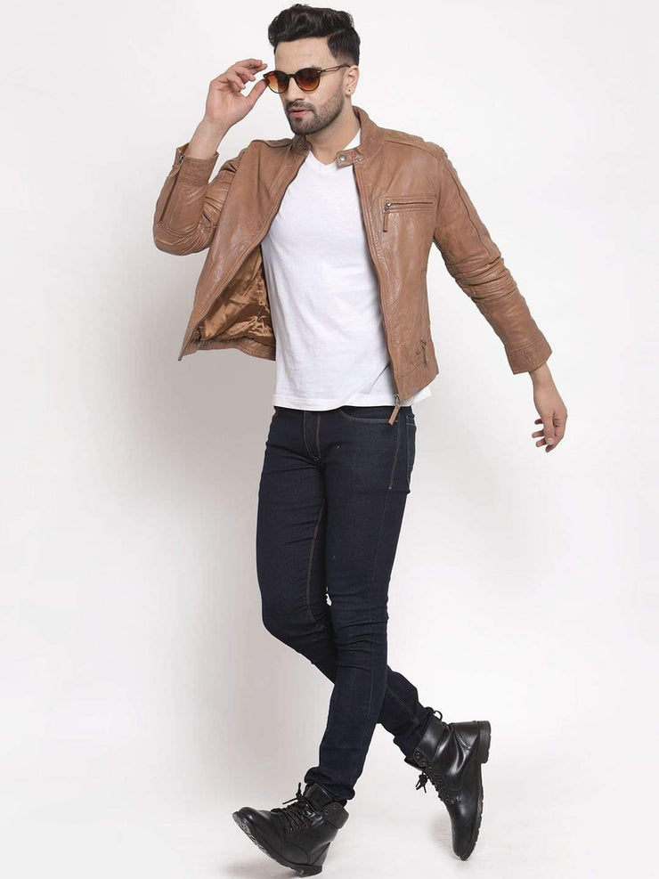 Sculpt Australia Oliver Brown Leather Jacket