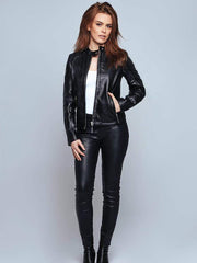 Sculpt Australia womens leather jacket Ashley Black Leather Jacket