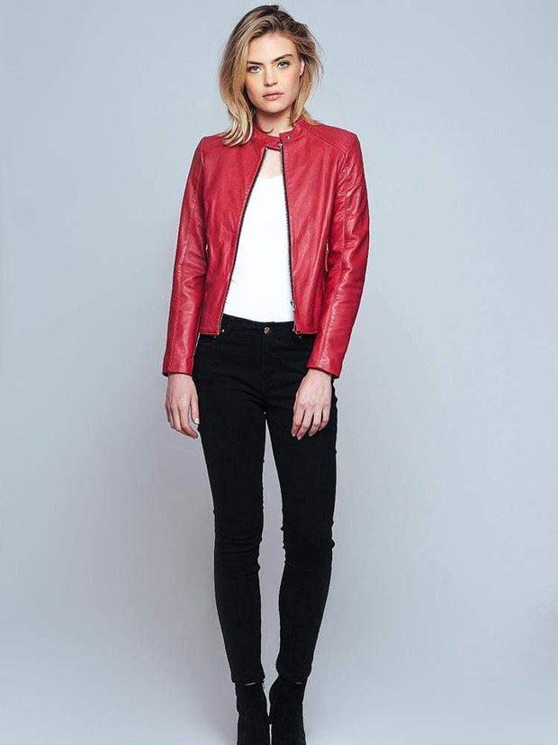 Sculpt Australia womens leather jacket Ashley Red Leather Jacket