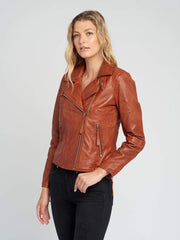 Sculpt Australia womens leather jacket Cathy Brown Leather Jacket