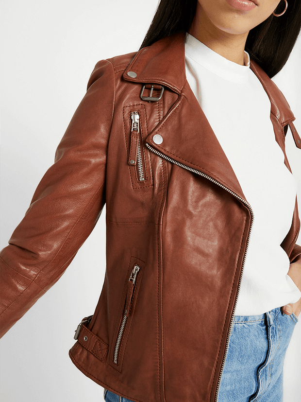 Sculpt Australia womens leather jacket Cathy Lapel Collar Leather Jacket