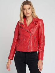 Sculpt Australia womens leather jacket Cathy Red Leather Jacket