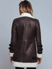 Sculpt Australia womens leather jacket Chloe Brown Shearling Leather Jacket