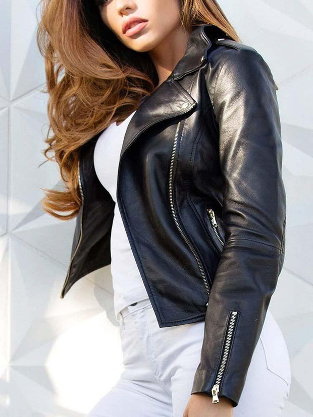 Sculpt Australia womens leather jacket Classic Women's Black Leather Jacket