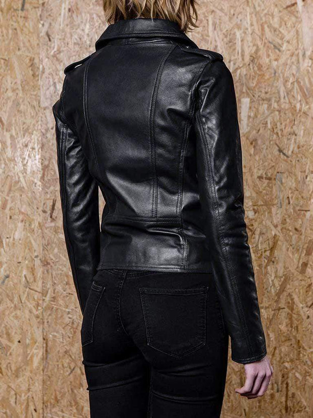 Sculpt Australia womens leather jacket Diane Black Biker Leather Jacket