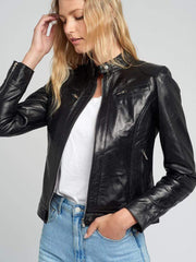 Sculpt Australia womens leather jacket Eliza Black Leather Jacket