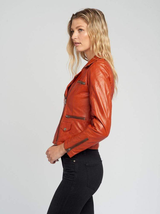 Sculpt Australia womens leather jacket Ella Designer Leather Jacket